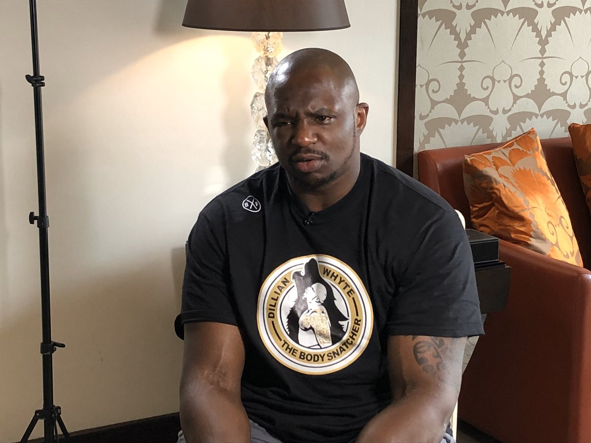 Coming soon on @SkySportsNews our exclusive interview with @DillianWhyte on his five months of hell, and what happens next... 👀
