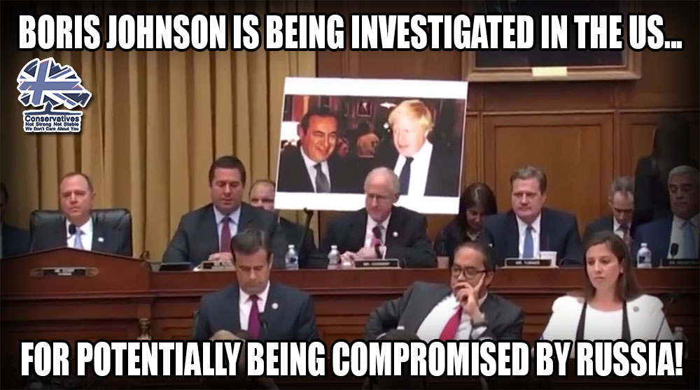 Boris Johnson is being investigated in the US for potentially being compromised by Russian activity. In the UK there is nothing about this. Is there a mention in the report into Russian electoral interference? #ReleaseTheRussianReport #Marr #Ridge #VoteNotTory