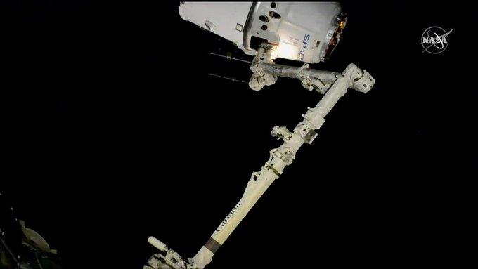 Dec 8, 2019, Canadarm2 robotic arm.