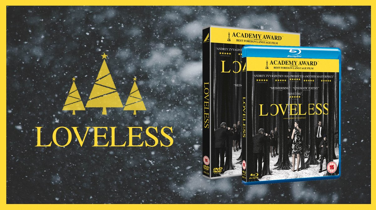 """Nothing says Christmas like """"an apocalyptic study of a failed marriage""""★★★★★(Peter Bradshaw). RT for your chance to #win our LOVELESS bundle! #Advent #December8 #Competition"""
