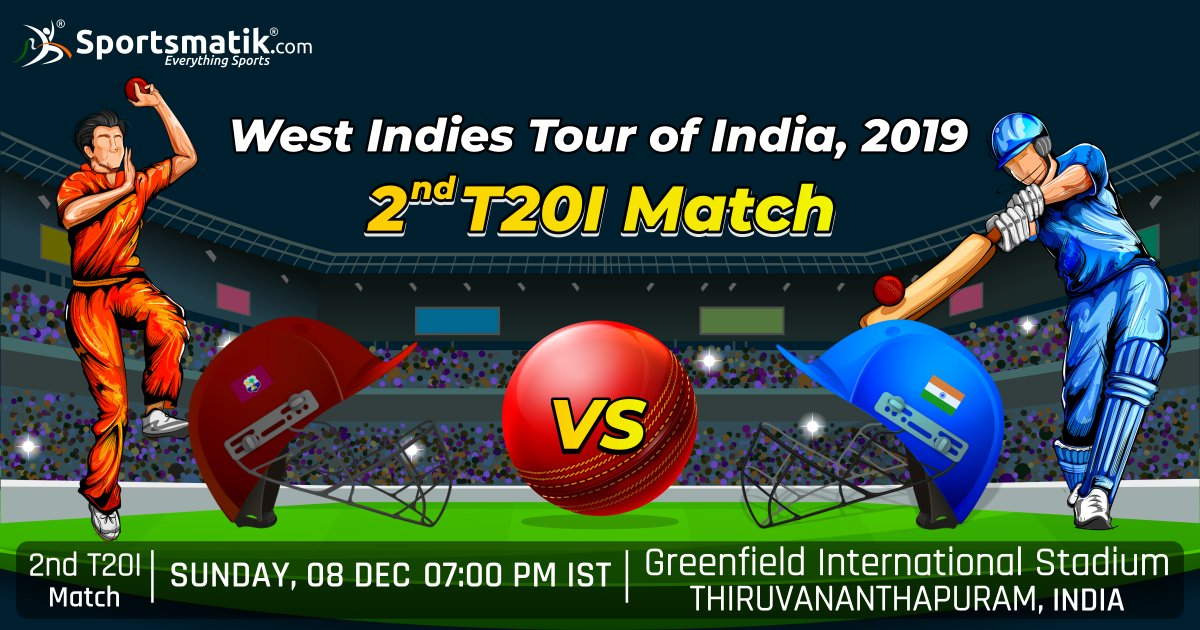 After India's #amazing last win of 1st T20I match against #WestIndies, both teams will play the #2ndT20I match today. Will #India win this time too? Or will West Indies equalise in the series?https://sportsmatik.com/sports-events/view/229/west-indies-tour-of-india-2019…