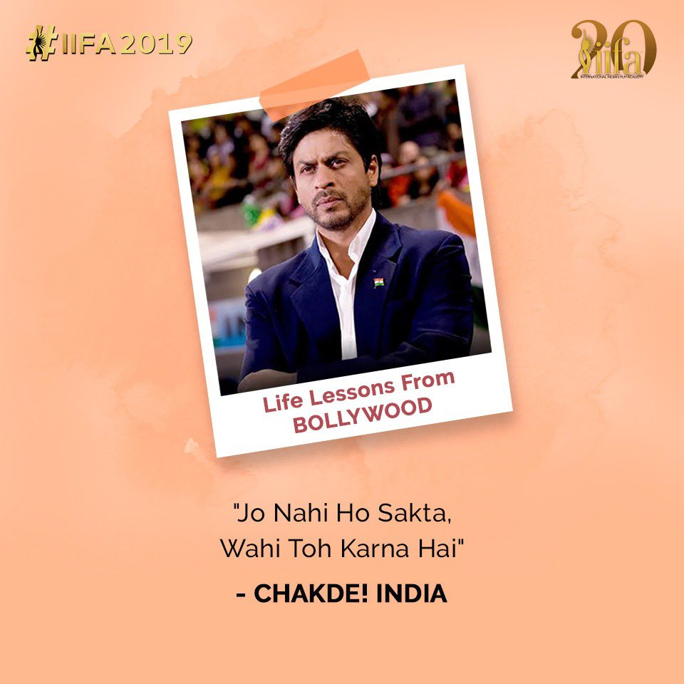 Everything is indeed achievable as long as one strives hard for what one wants! #ChakDeIndia #ShahRukhKhan #LifeLessonsFromBollywood #Bollywood
