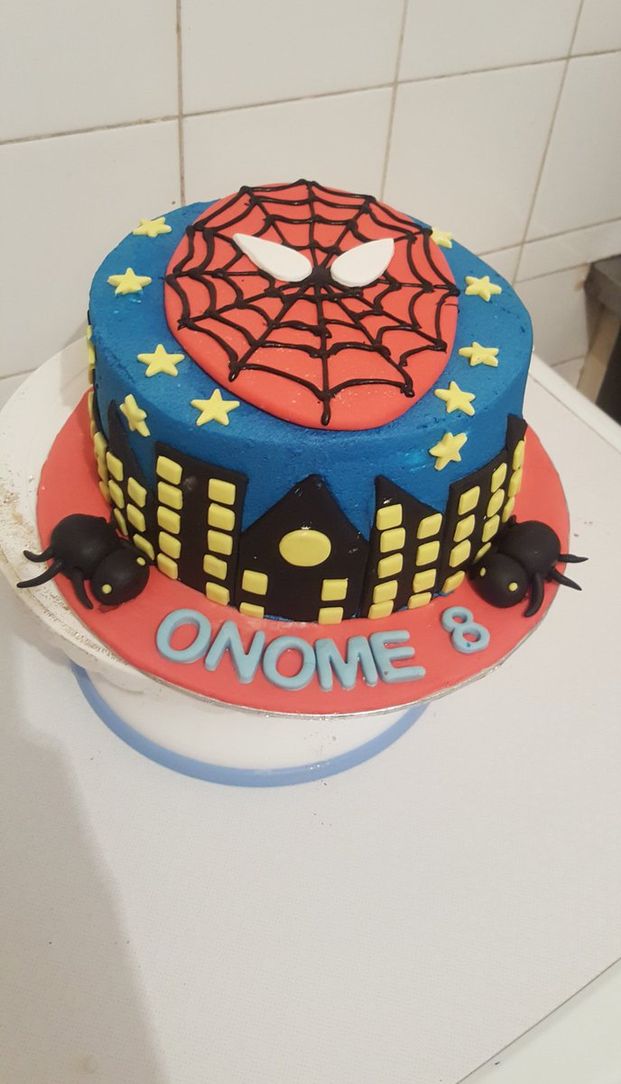 Spiderman cake for a happy baby boy I love putting smiles on peoples faces #MissUniverse2019 #mommytalkza #GirlTalkZA #MondayMotivation please retweet for awareness help me make someone happy 🌻