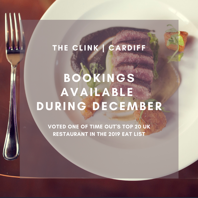 Voted Top 20 UK Restaurant in @timeout #TheEatList this year, we still have some bookings availability in #December - for a meals that takes you places youd never imagined, book today bit.ly/BookNowTheClink