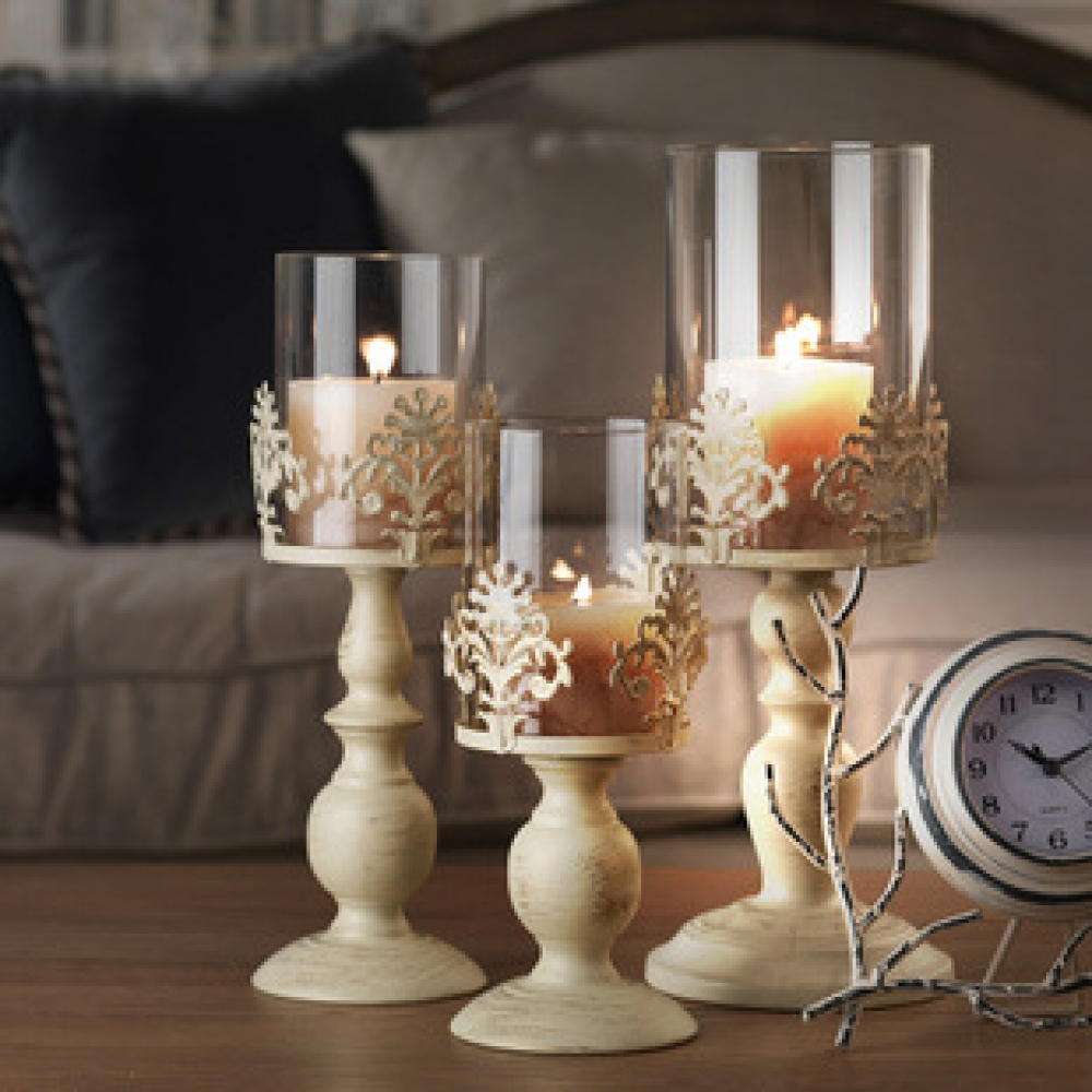 #fun #outside Vintage Style Lace Candle Holder