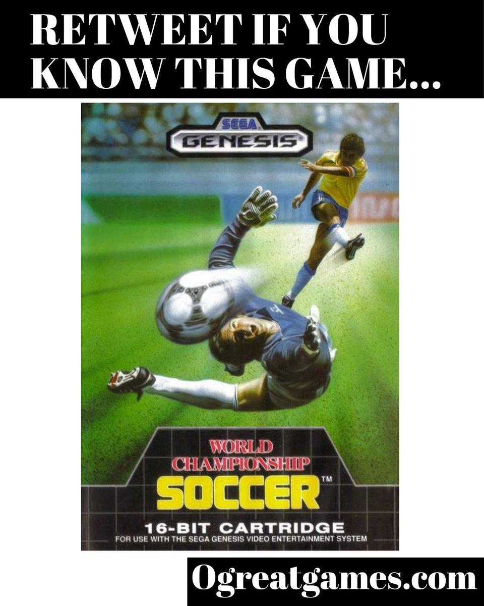RT if you enjoyed World Championship Soccer!  #fun #soccer #gamer #sega #genesis