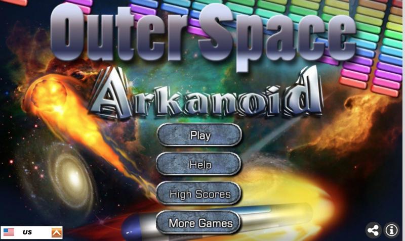 Play outer space arkanoid #arcade #arkanoid   #fun