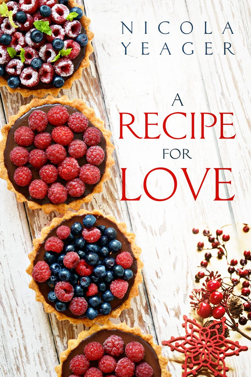 A Recipe for Love by Nicola Yeager. 'If you love cooking and Christmas, you'll love this!'  #Xmas #ChickLit #RomCom #Fun #Foodie #FrenchBistro