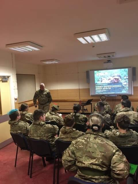 This morning on the @acfadbn NCO weekend the @DepCom_AD_ACF  is giving the NCO's a presentation on safeguarding. @ArmyCadetsScot @ArmyCadetsUK @ColCdts51X #acf #goingfurther #andnco2019