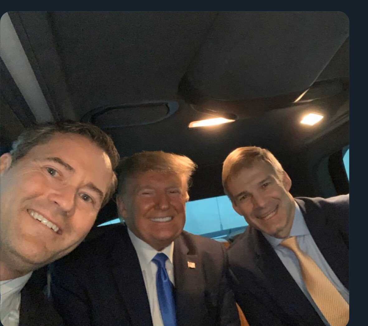 President Donald Trump is in good company! Great smiles! These men do not look worried! We can feel confident of Four more years! 🇺🇸Voting🇺🇸 Straight Republican Ticket 20/20! @realDonaldTrump @RepMichaelWaltz @Jim_Jordan