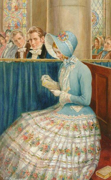 エノク・フェアハースト(イギリス、1874-1945)『求愛の眼差し』