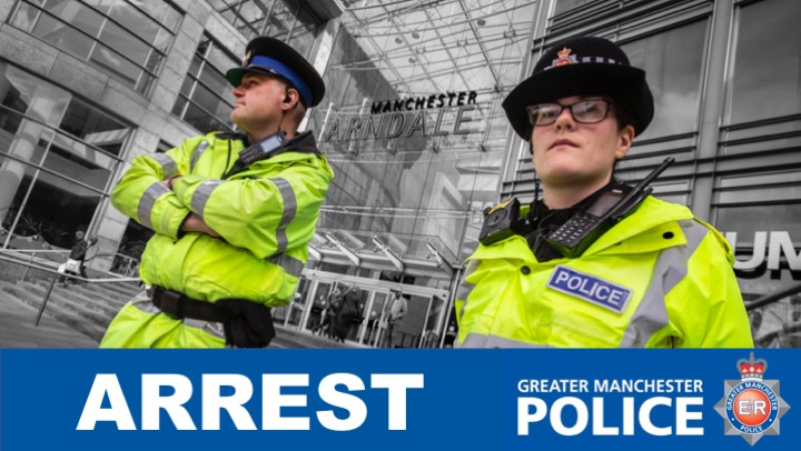 A 41-year-old man has been arrested after a video posted on social media showed a supporter making racist gestures at the Manchester City v Manchester United match at the Etihad Stadium yesterday. He remains in custody for questioning. Sgt K #MCIMUN #ManchesterDerby #HateCrime<br>http://pic.twitter.com/FLPP6gvaii