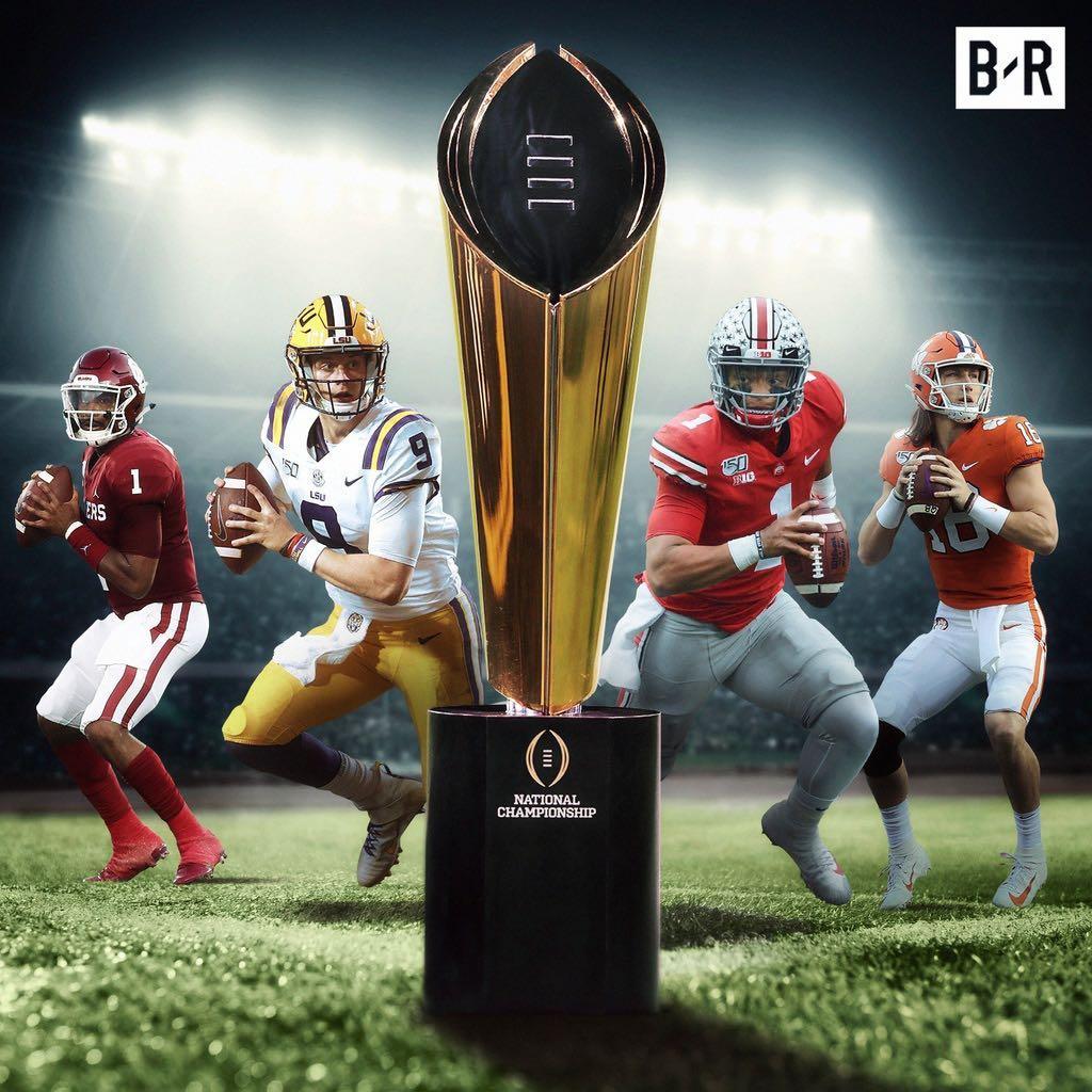 2020 College Football Playoff field is set 🏆 🐯 LSU ⭕️ Ohio State 🐾 Clemson 🚩Oklahoma