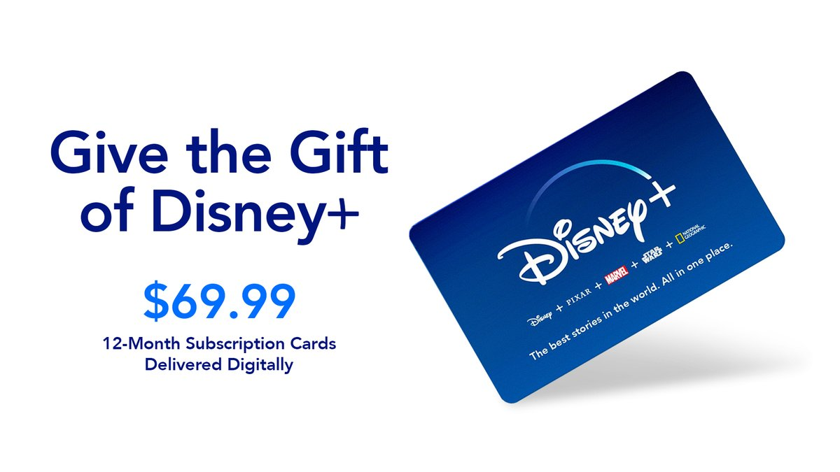 Give the gift that keeps on streaming. #DisneyPlus subscription cards are now available! Get one for your friends and family in time for the holiday season. (US Only)