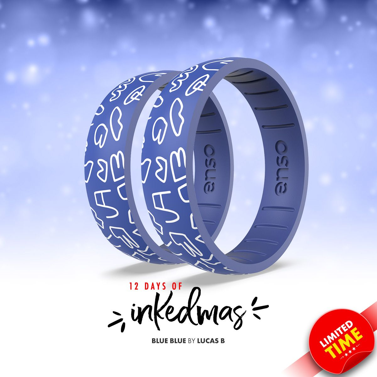 On the eighth day of #INKEDmas Enso Rings gave to me ... a Blue Blue ring by @lucas_beaufort.   https://t.co/2Ph90Frrf1 https://t.co/Z5Vft1PT67