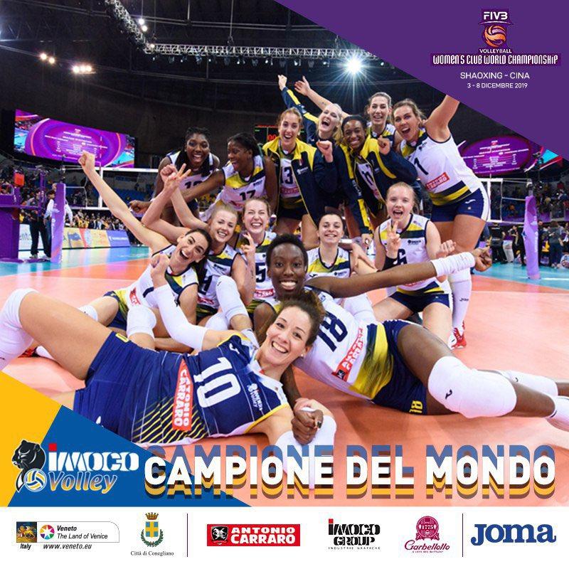 L'Imoco è campione del Mondo!!! #emozionidoc #MondialePerClub