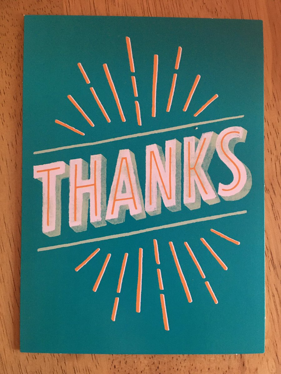 A card saying thanks!