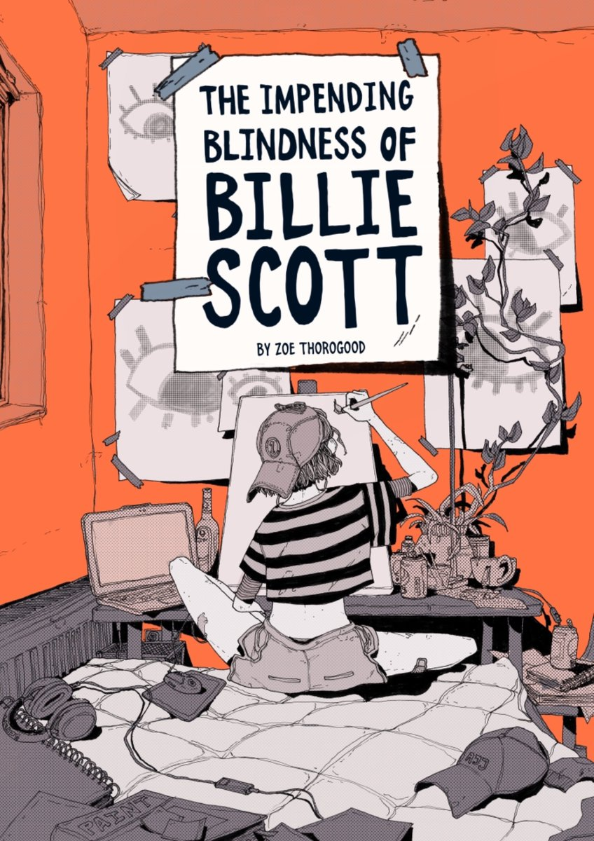 Hey new followers! I'm Zoe 'not usually political' Thorogood and the most interesting thing about me is my-soon-to-be-published graphic novel. It's about a young artist rapidly losing her eyesight as she tries to create her legacy in the few weeks she has left. Out Sep!