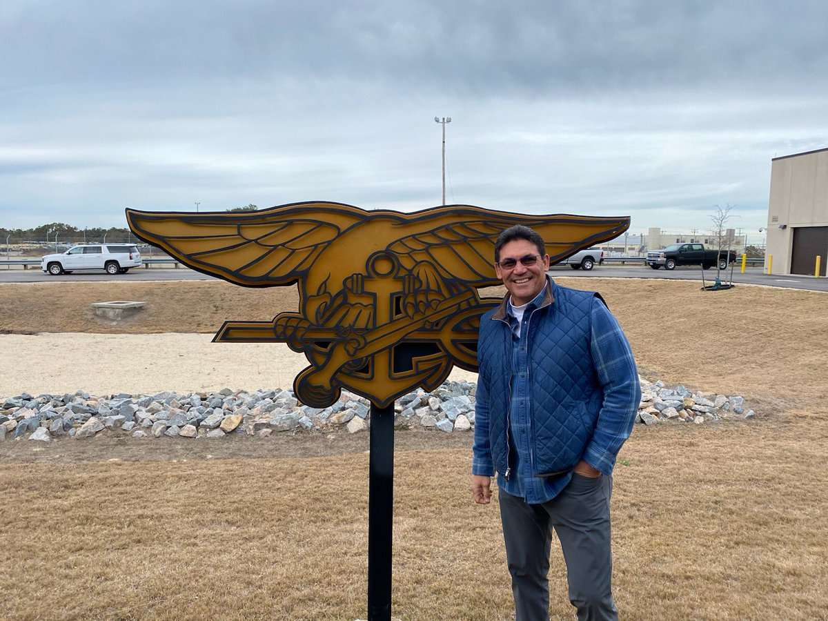 Ron Rivera was fired Tuesday by @Panthers but he didn't wallow in self pity. The son of a Vietnam Veteran (Eugenio Rivera) headed to visit his Seal Teams two & four friends in Virginia Beach. #leadership