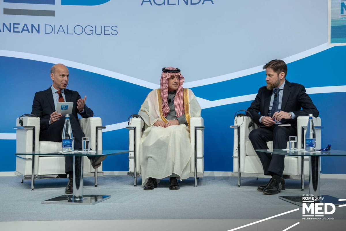 Enjoyed our discussion with Saudi Foreign minister Al-Jubeir in Rome, though I'm not sure he did. youtu.be/13khr2hxogk