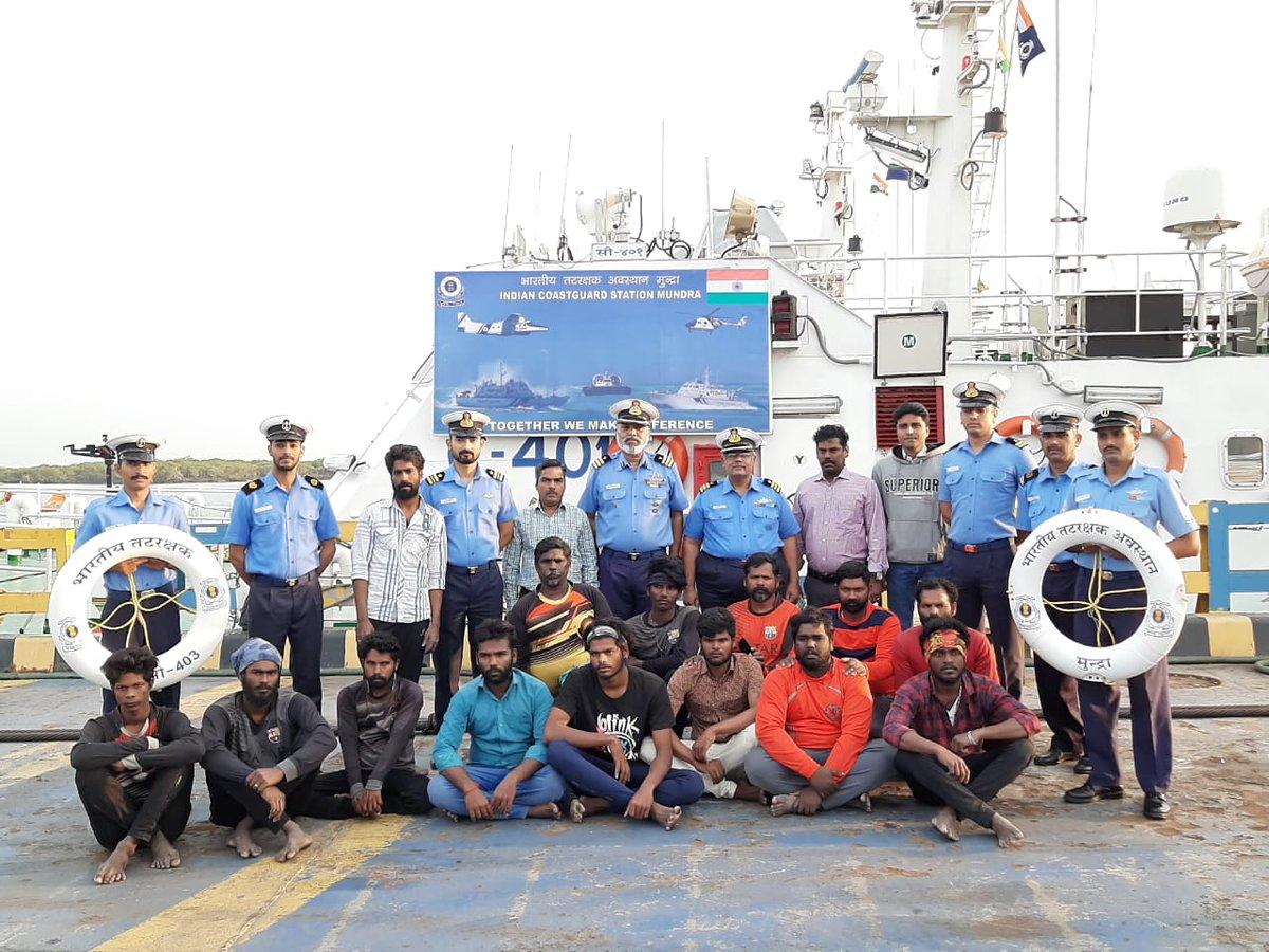 Coast Guard rescues fishermen in distress off Gujarat coast