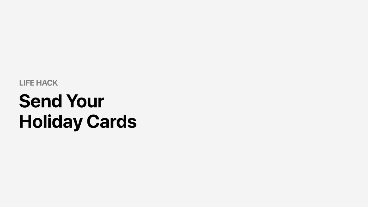 Send your season's greetings with a personalized touch 💌Customize your holiday cards with these apps: https://t.co/NojBLOfQYx