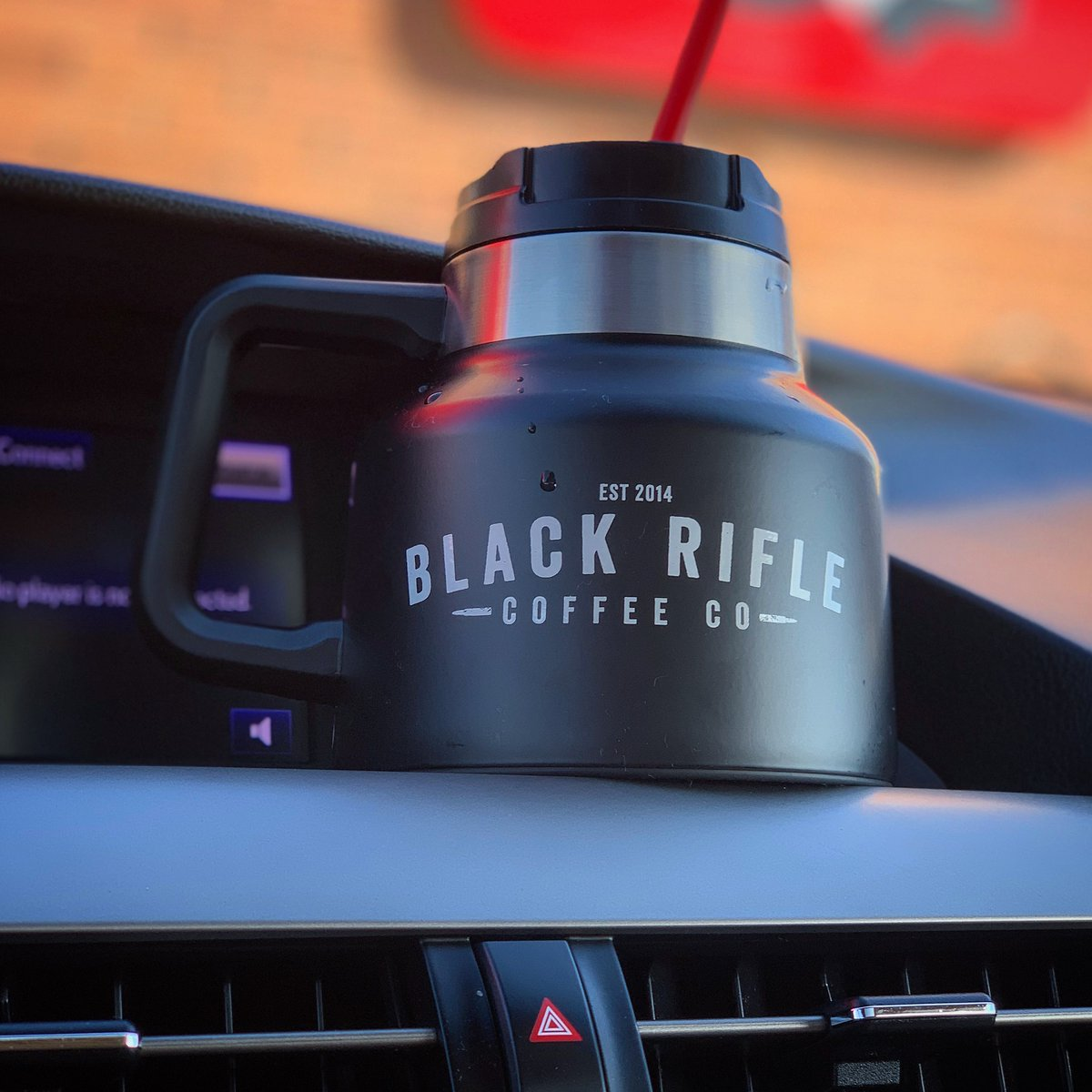 "At home, it's #MugClub. But NOTHING travels better than this @blackriflecoffee thermos. If I had a narcissistic ""Crowder's Favorite Things"" list, this would be on it. But I'm not an overweight, female, talk-show-show-host-of-color and I can't afford to give all of you minivans."