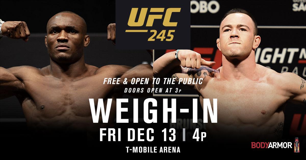 PLUS, the weigh-ins Friday night!  FULL SCHEDULE ➡️ https://bit.ly/36eIVbZ #UFC245