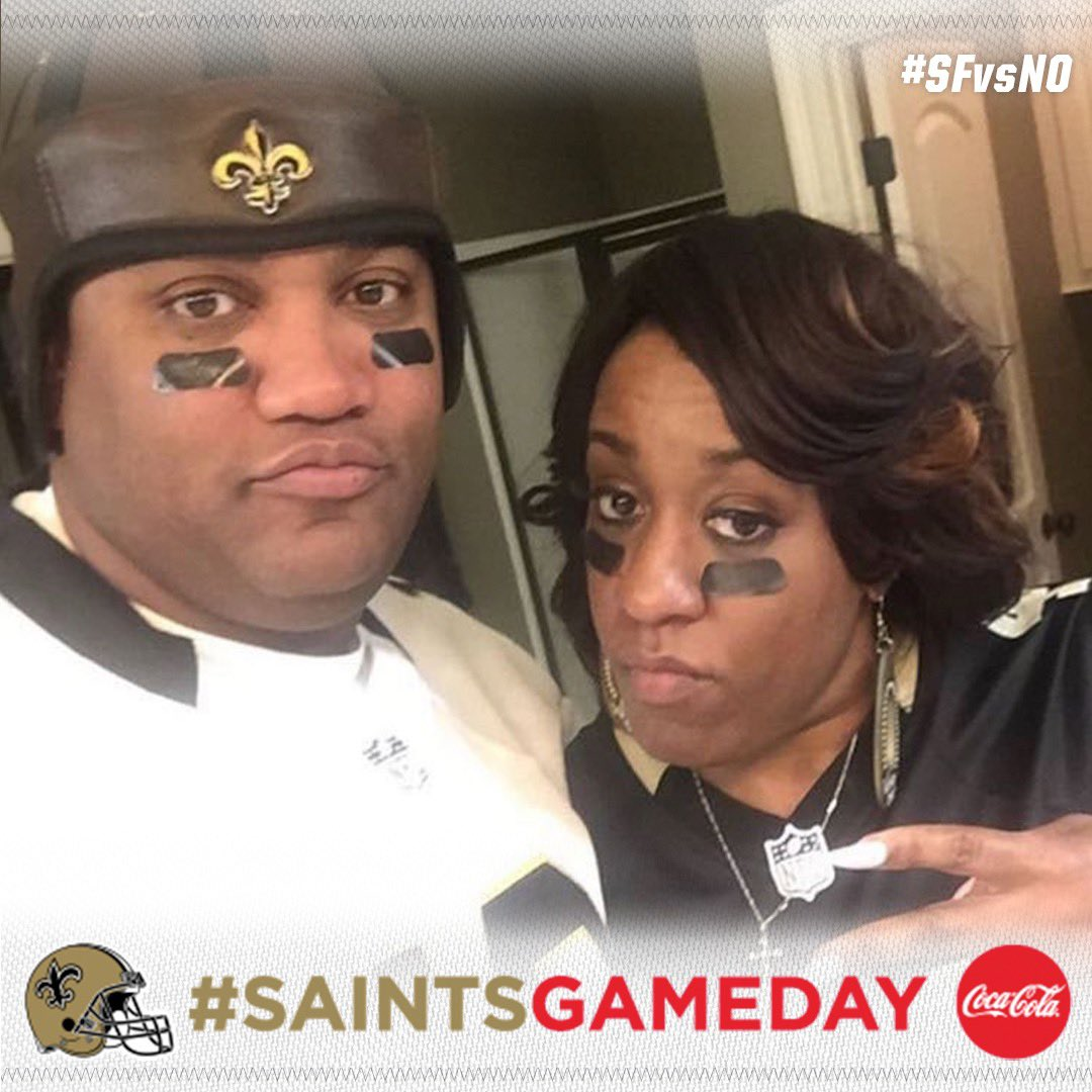 RT @Saints: It's #SaintsGameday and we need you to be LOUD! ⚜️⚜️⚜️  #SFvsNO | @CocaCola https://t.co/6zz17fr8RU