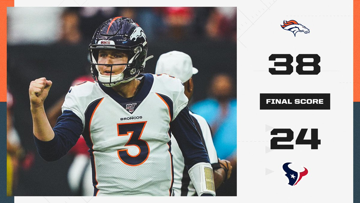 Drew Lock and the Broncos STUN the Texans on the road.
