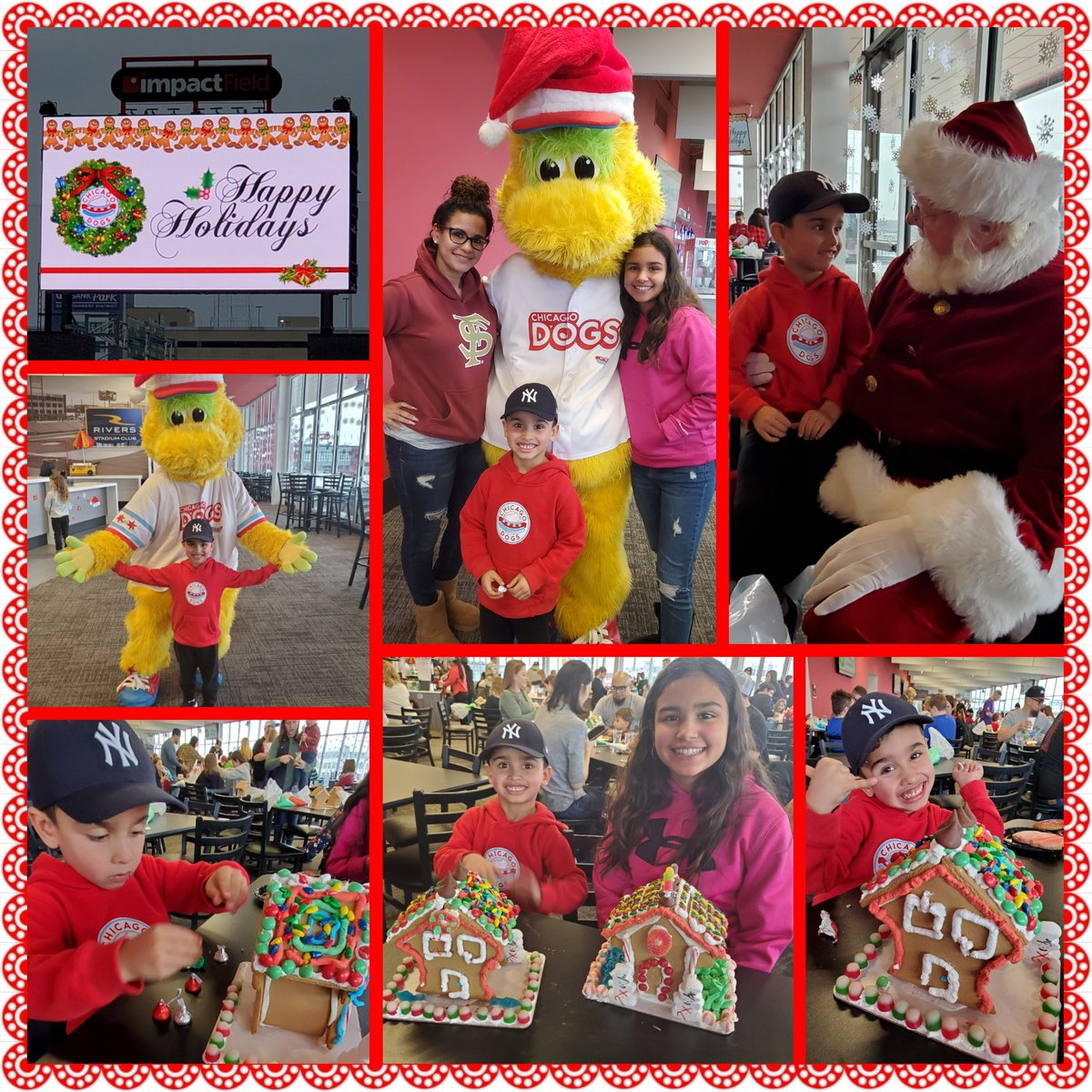 #FundaySunday with the family and the @TheChicagoDogs at their annual Holiday #gingerbread Decorating and Cookie Party#TakeaBite #HappyHolidays – at Impact Field