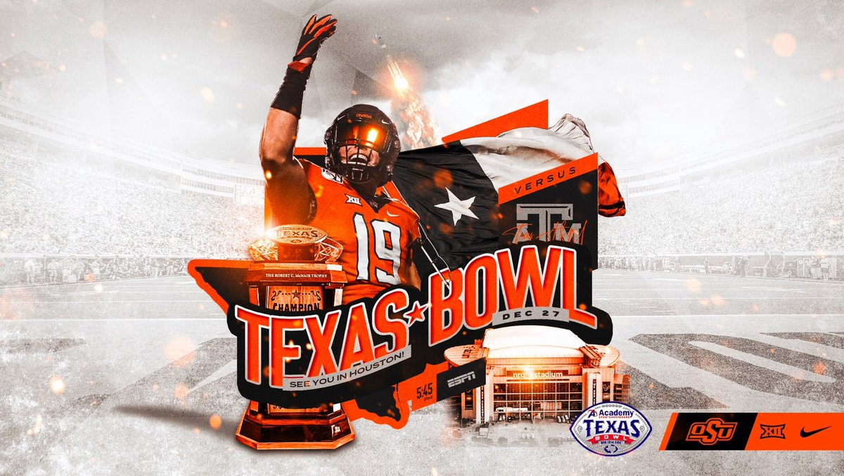 We are headed to Houston for our 14th-straight bowl game!  Get your tickets now and join us there!  :  https:// okla.st/2LyiLsW     :  https:// okla.st/2RIkSyv      #okstate #GoPokes <br>http://pic.twitter.com/Bnk3IxqmjU