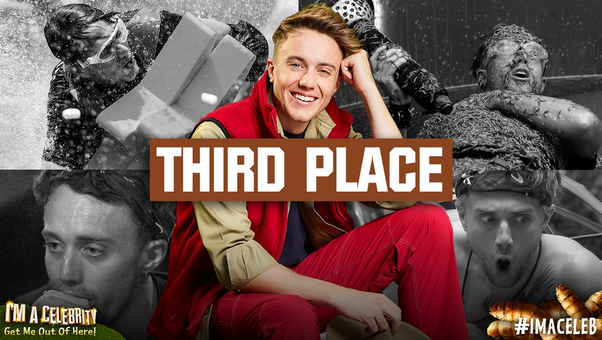 Your votes mean @romankemp has finished in 3rd place! What a fantastic Campmate he's been. 👏 #ImACeleb