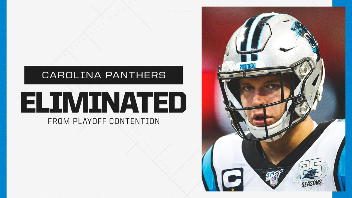 The Panthers have officially been eliminated from playoff contention.