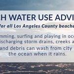 Image for the Tweet beginning: Beach Water Use Advisory: Advisory