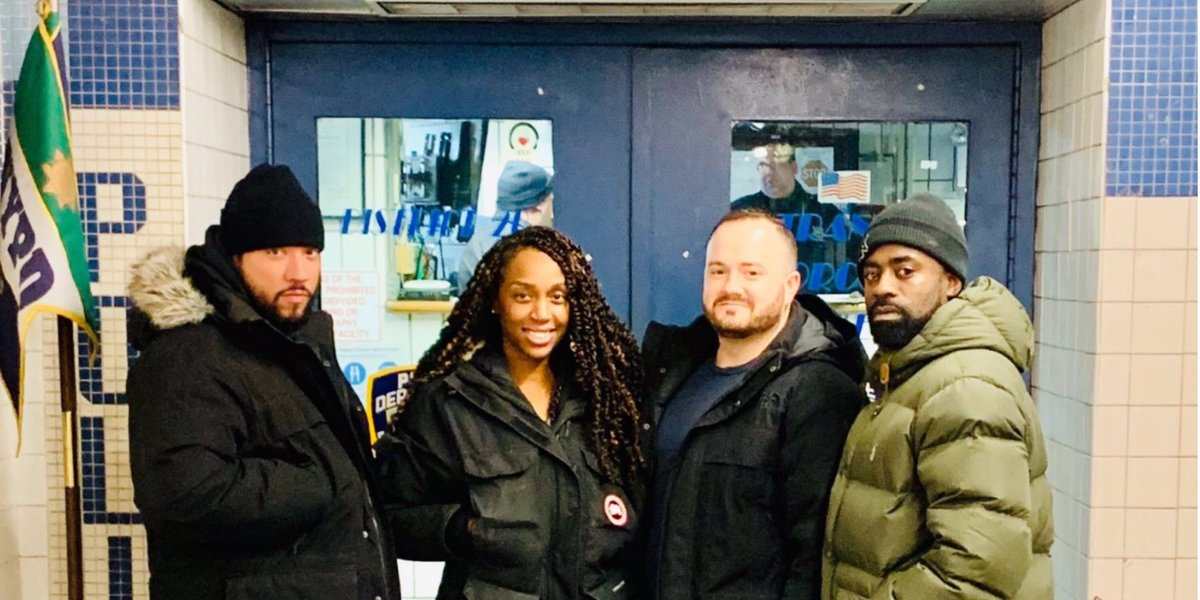 "While a man was resting his eyes aboard the ""E"" train, his phone stolen by someone looking to take advantage. Luckily these @NYPDTransit District 20 Anti-Crime cops saw the whole encounter & were able to immediately apprehend the suspect & return the phone to its rightful owner."
