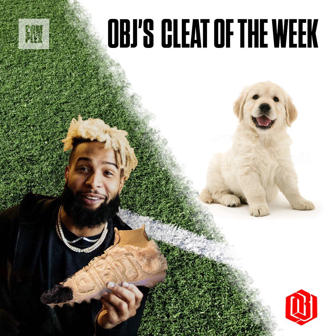 .@OBJ's #MyCauseMyCleats are fur-covered in support of @BereaARF, a no-time limit animal shelter that rescues stray animals and prepares them for adoption 🐶