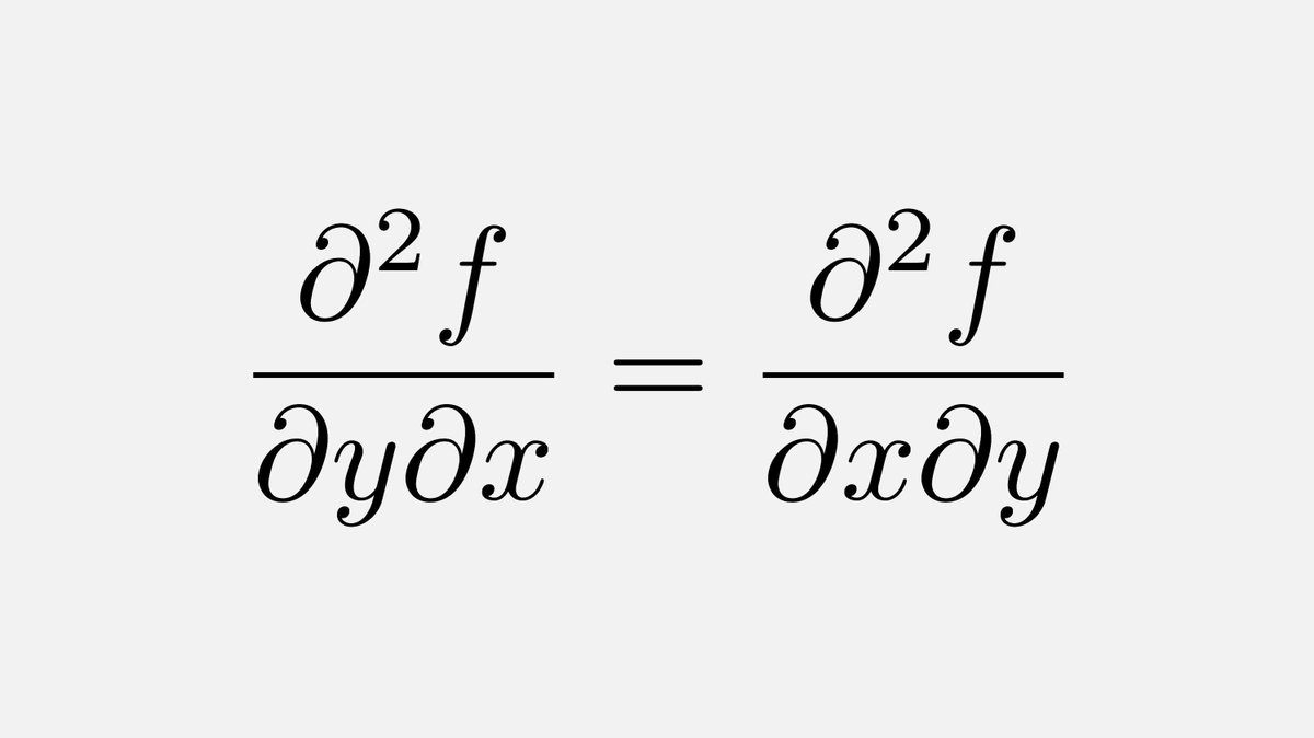 Euler was the first person to prove the interchangeability of partial derivatives