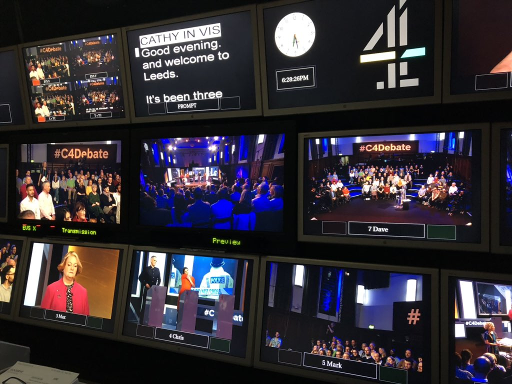 On air now on Channel 4: The Nation Decides - the Everything But Brexit debate....do tune in for the FINAL of the tv debates before the general election on Thursday #C4debate