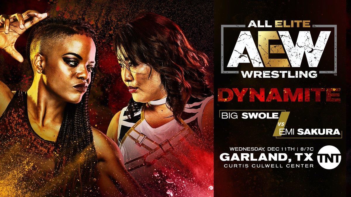 Big Swole Vs. Emi Sakura Announced For This Wednesday's AEW Dynamite
