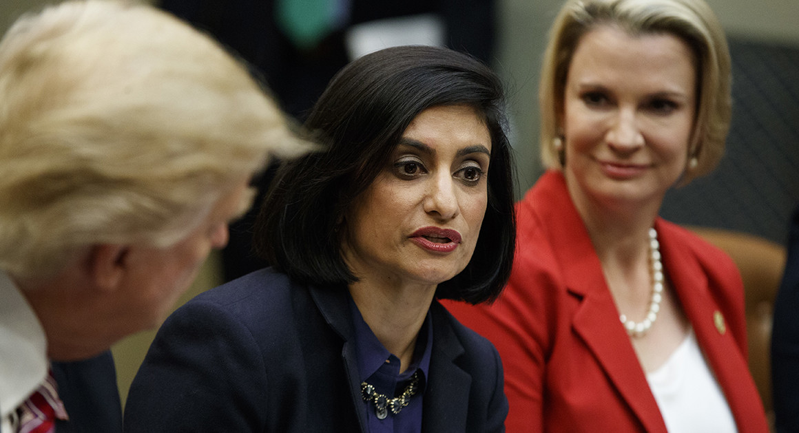For those just discovering SEEMA VERMA, here's a mini-thread on her and the broader leadership clash at HHS.  1) Verma came to DC after being a consultant for MIKE PENCE.  Among her signature efforts for Trump: Medicaid work requirements.  https://www. politico.com/story/2018/01/ 11/trump-medicaid-work-requirements-280969   …  by @rachanadixit<br>http://pic.twitter.com/ApoqJa3kjX