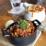 Cure the Sunday blues with a comforting dish of our Burgoo 😋 Slow-cooked with lamb, beef, smoked ham, lima beans, corn, molasses, tomato & okra.   Recommended for filling bellies & sharing with friends. Available all weekend long!   Thanks to @bobbybobeatsvan for this photo!