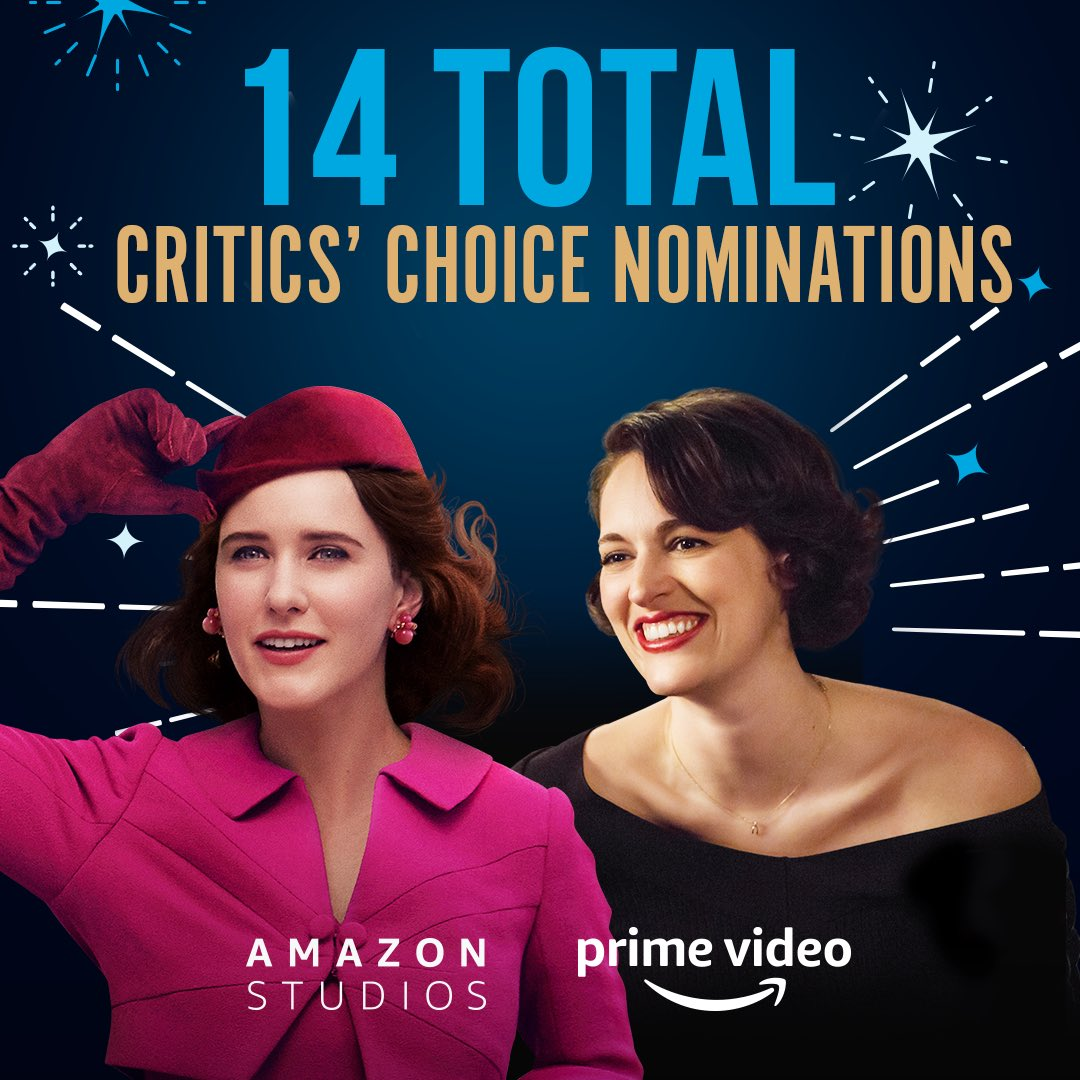 Congrats to all of our #CriticsChoice nominees, including @MaiselTV and @fleabag for Best Comedy Series. 🙌