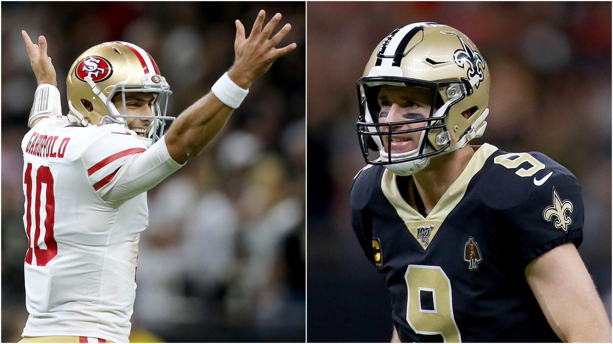 Niners-Saints is a playoff atmosphere 😤  • 8 TDs in the first half • More TDs than incompletions