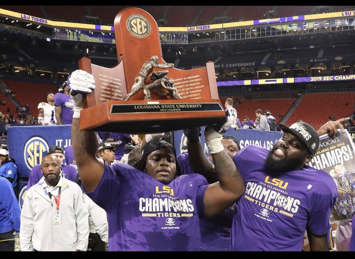 I came out of high school with ZERO offers nobody wanted me out of high school. I went to junior college and stayed humble and LSU came into my life and now I won my first SEC CHAMPIONSHIP. Ring Me  SEC CHAMPS.  #LB4F