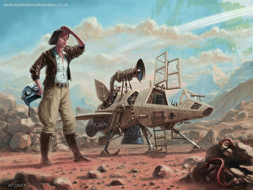 I simply love this Steampunk Girl With Spaceship ART by Martin Davey @MDfineart - it's just doggone brilliant!  https://t.co/6rObCdj8IG             #scifi #steampunk #illustration #flying #fantasy