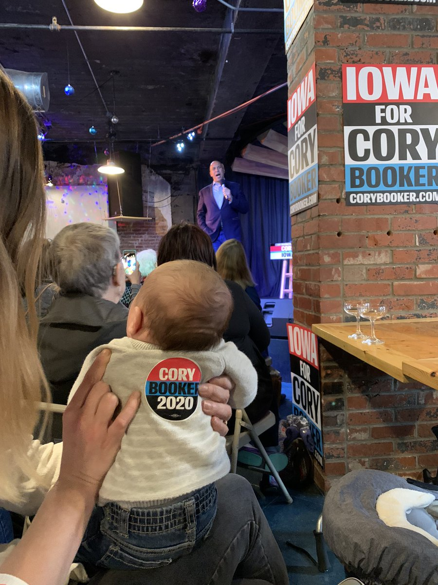Baby Henry is taking his #iacaucus duties very seriously.