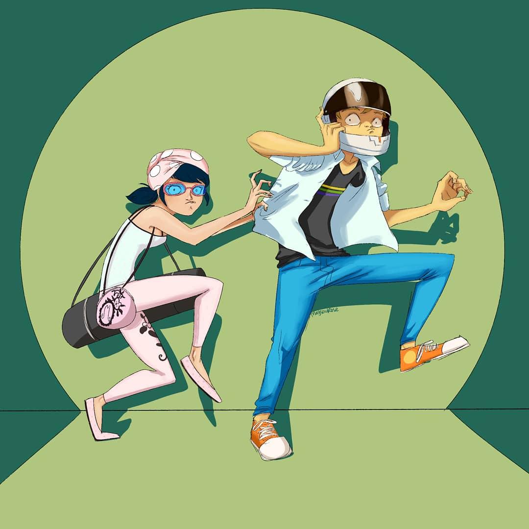 I love the episodes where marinette and adrien wear disguises #mlb #mlbfanart #miraculousladybug #ladybug #adrienagreste #marinettedupaincheng #art #fanart #digitalartpic.twitter.com/opfgTkFCCp
