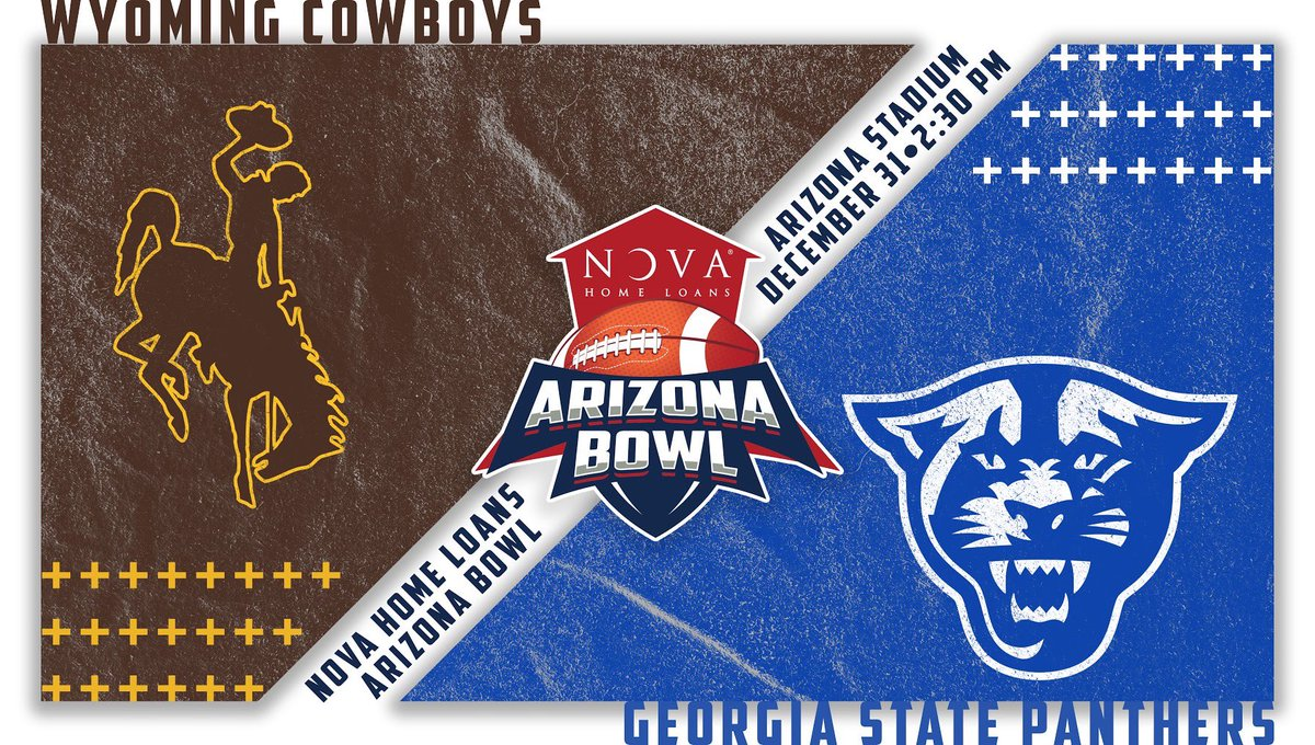 It's a Pokes vs. Panthers #novaAZBOWL! Welcome to the Old Pueblo.   : December 31st  : 2:30 PM : Arizona Stadium :  https:// novaarizonabowl.com/game-2019/tick ets  …   #GoPokes x #LetEmKnow<br>http://pic.twitter.com/294s1dLX2s