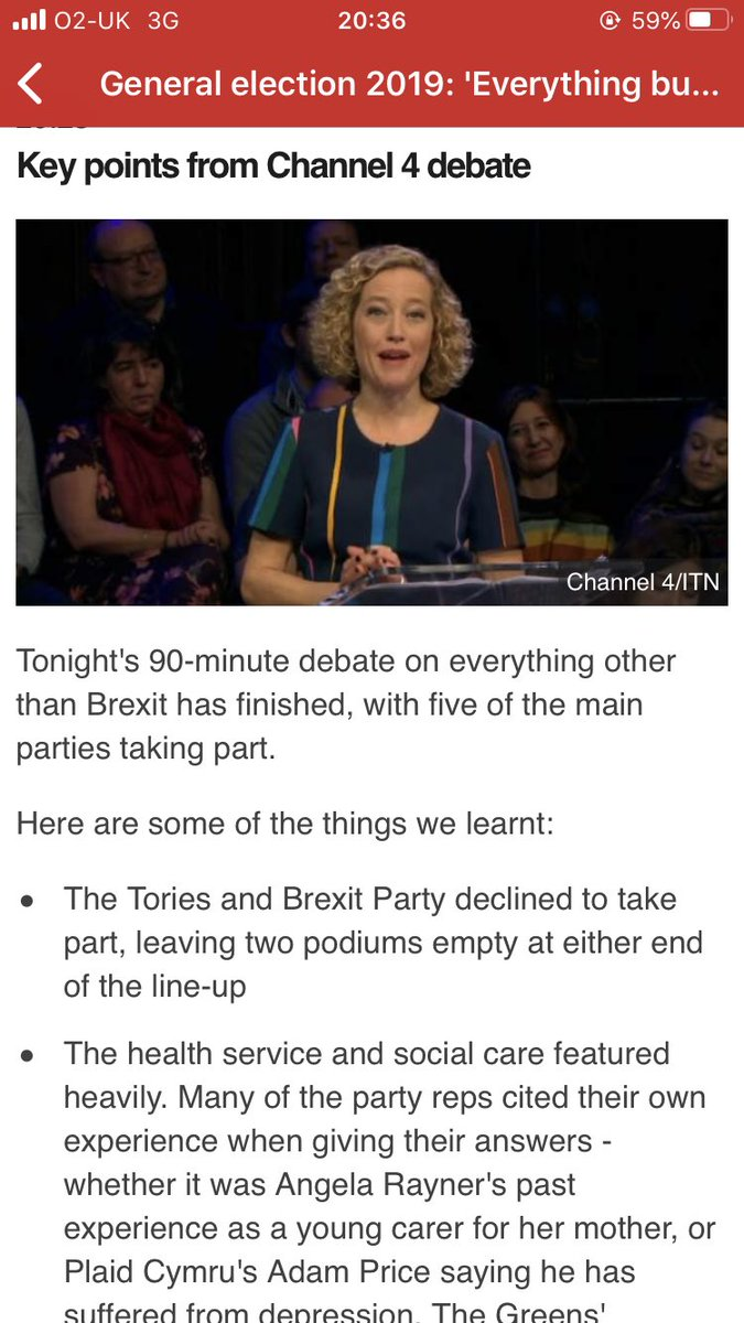Some headlines from the #C4Debate - hosted by @cathynewman featuring @AngelaRayner @joswinson @Dr_PhilippaW @Adamprice @jon_bartley - so many important issues discussed which have otherwise been drowned out by Brexit. Do watch back on All 4 if you missed it.